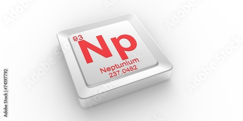Valokuva  Np symbol 93 for Neptunium chemical elem of the periodic table