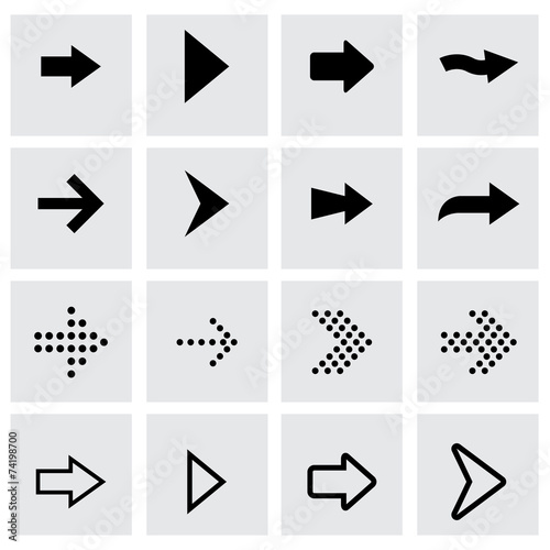 Fotografía  Vector black arrows icon set