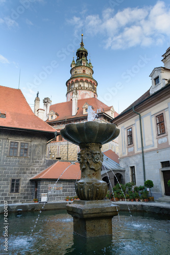Photo  Cesky Krumlov Castle tower