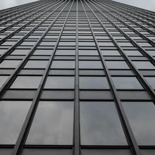 Grey Uniform Grid Skyscraper