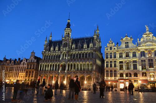 Poster Brussel grote markt in belgian capital brussels.