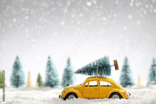 Fotobehang Wit Christmas card
