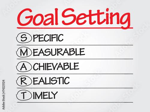 Photo  Hand writing SMART Goal Setting, presentation background