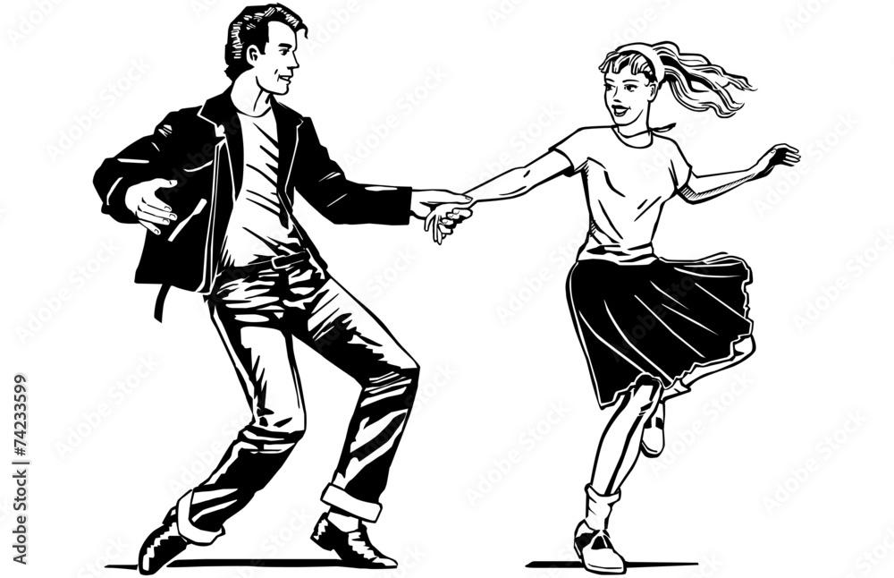 Fototapety, obrazy: Retro Swing Dancing