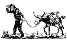 Prospector With Donkey
