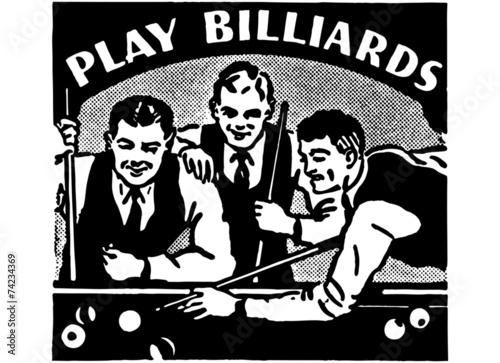 Fotografie, Tablou  Play Billiards