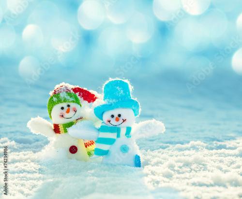 Fotografie, Obraz  Snowman on snow