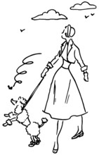 Lady With Poodle