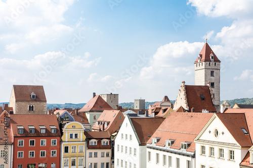 Photo Stands Historic City of Regensburg