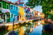 canvas print picture - Burano, Italien