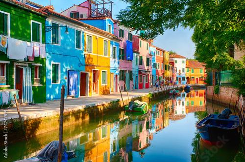 Burano, Italien Fotobehang