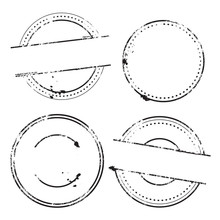 Sample Stamps Vector Set - Rounded Stamps