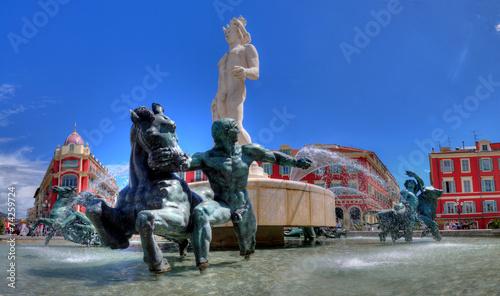 Fotobehang Nice nice fontaine place masséna