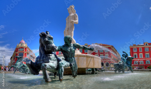 Deurstickers Nice nice fontaine place masséna