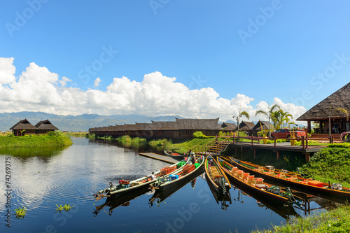 inle lake myanmar Canvas Print