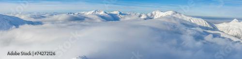 Fototapeta Góry ponad chmurami obraz