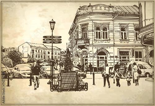 szkic-ilustracji-wektorowych-uzgorod-panorame-miasta