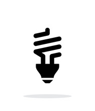 CFL Bulb Icon On White Background.