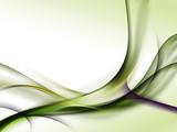 zielone abstrakcyjne fale - 74284749