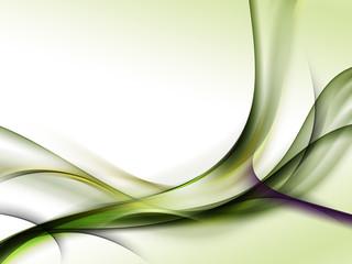 zielone abstrakcyjne fale