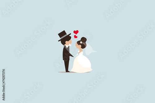 Leinwand Poster Hochzeit Illustration