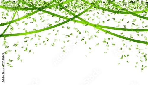 Obraz falling green confetti - fototapety do salonu