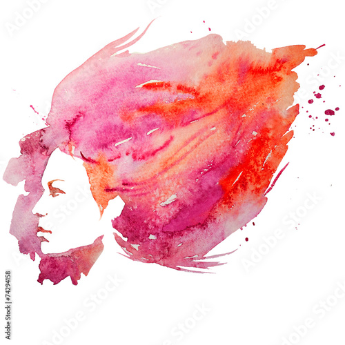 watercolor, girl, portrait doodle, creative, lady, creativity,