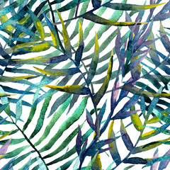 Fototapeta leaves abstract pattern background wallpaper watercolor