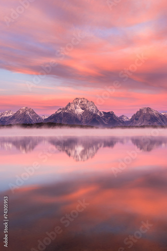 Canvas Prints Natural Park Jackson Lake, Grand Teton National Park