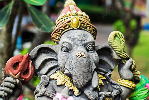 Photo  An Ganesha made of stone in bali .