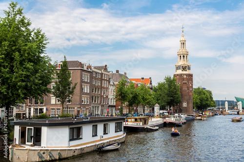 Photo  Coin Tower (Munttoren) in Amsterdam