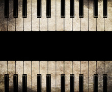 Vintage Piano Isolated