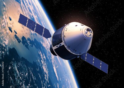 Fotografie, Obraz  Crew Exploration Vehicle Orbiting Earth