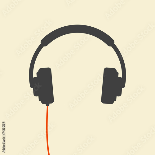 Photo  wired headphones