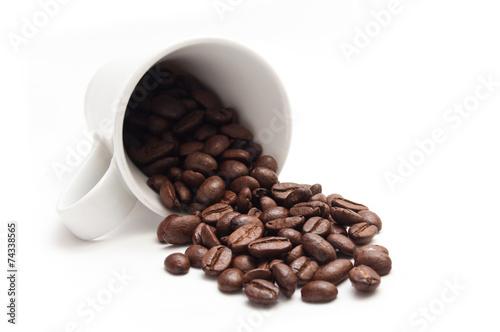 Deurstickers koffiebar concept café et grains