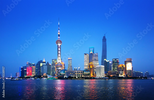 Fototapety, obrazy: Shanghai at night, China