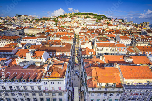 Lisbon, Portugal Cityscape Canvas Print
