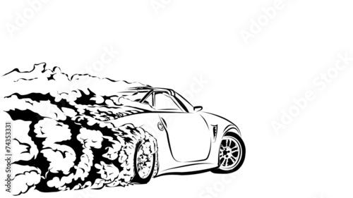 car sport drift Wallpaper Mural