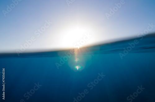 Poster Zee / Oceaan Abstract underwater backgrounds