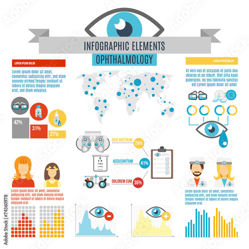 Fotografía  Oculist Infographic Set