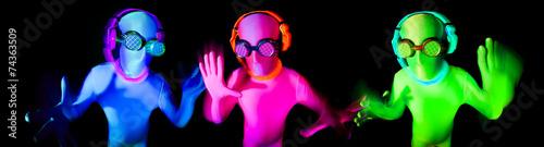 Poster Carnaval neon glow suit man