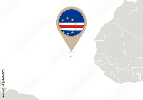 Cape Verde On World Map Buy This Stock Vector And Explore Similar