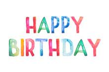 Happy Birthday Greeting Lettering