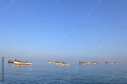 Fotografie, Obraz  Traditional Arabic fishing boats