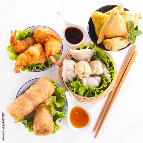 Photo assortment of asia food