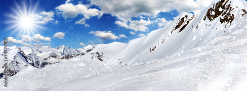 Winter background, high mountains. #74376912