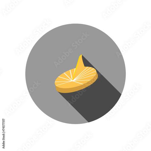 Spoed Foto op Canvas Klaar gerecht golden sundial