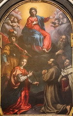 FototapetaBergamo -  The paint of Immaculate conception with the saints