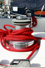 Sailing Yacht Winch With Red R...