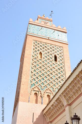 Foto op Aluminium Marokko Minareto, Marocco